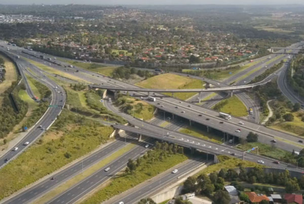 Artist impression of Western Roads Upgrade project