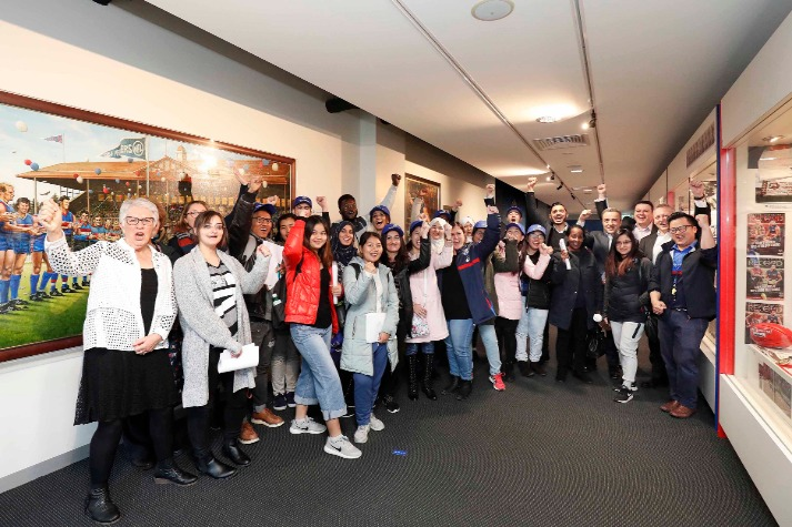 Western Bulldogs Community Foundation partnership helping migrants in Melbourne's west