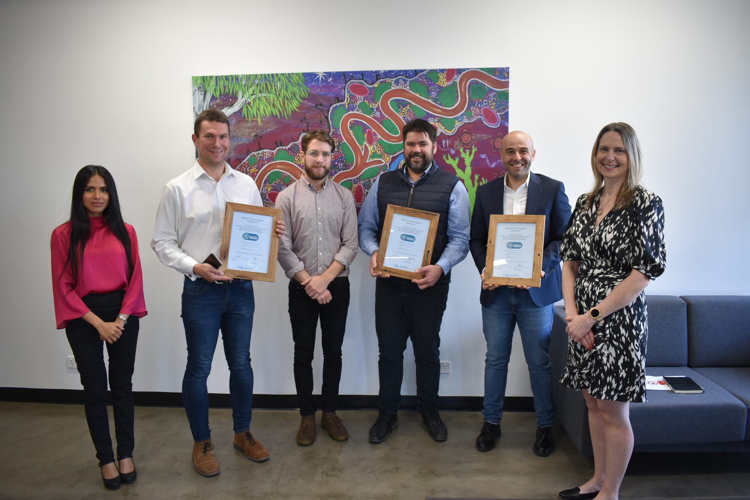 Western Roads Upgrade achieves one of Australia's first ISCA ratings for operations